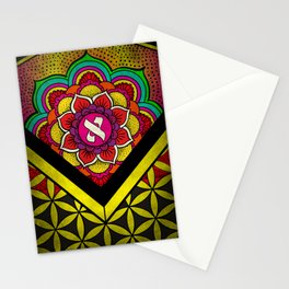 Sacred Geometry for your daily life - ALEPH KYBALION EYE Stationery Cards
