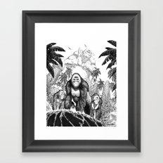The Lost City of the Jungle Apes Framed Art Print