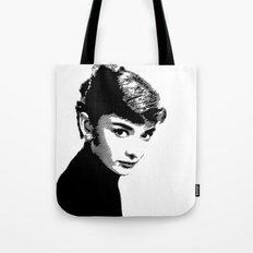 Audrey Hepburn Black and white Tote Bag