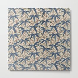 William Morris Bamboo Pattern Metal Print