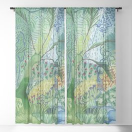 Serene Boheme Watercolor Sheer Curtain
