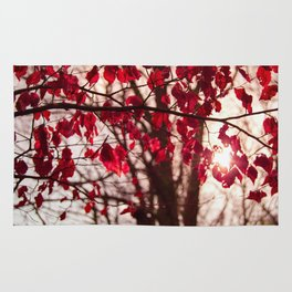 Red Leafs Rug