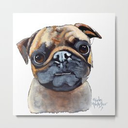 I AM A PUG by Shirley MacArthur Metal Print