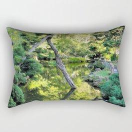 Japanese Tea Garden Lake Rectangular Pillow