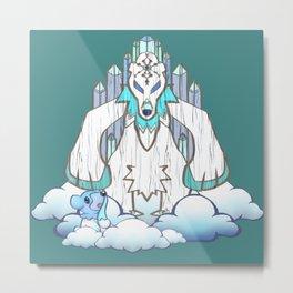 Beartic Tiki God Metal Print