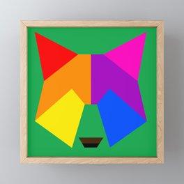 Pride wolf Framed Mini Art Print