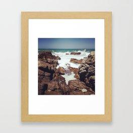 West Coast rocks Framed Art Print