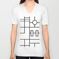 grid V-neck T-shirts featuring PS Grid by Project M