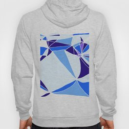 Blue mosaic Abstract artwork Hoody