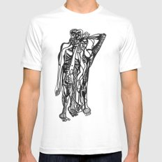 2013 - A White MEDIUM Mens Fitted Tee