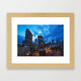 Denver Dusk Framed Art Print
