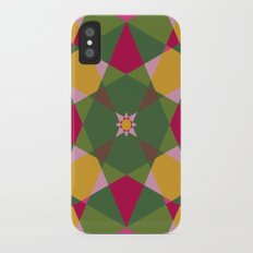 Shades of flowers iPhone X Slim Case