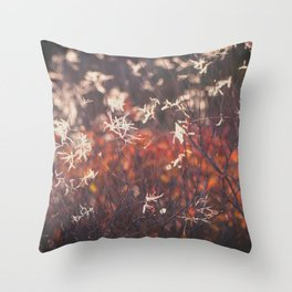 Red autumn Throw Pillow