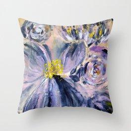 Bluey Floral Throw Pillow