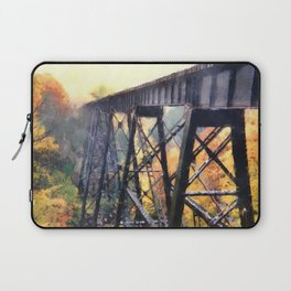 Upper Peninsula Train Trestle Laptop Sleeve