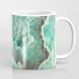 Minty Geode Crystals Coffee Mug