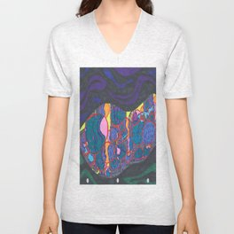 L.A., at night, from a distance Unisex V-Neck