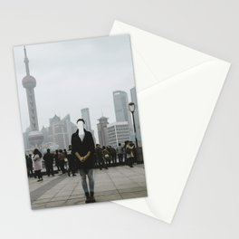 No face in Shanghai Stationery Cards