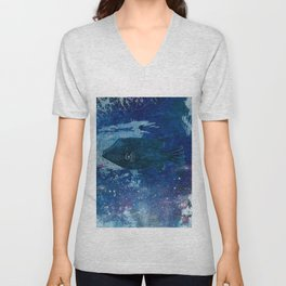Cosmic fish, ocean, sea, under the water Unisex V-Neck
