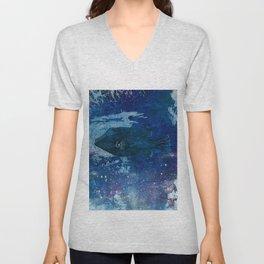 Cosmic fish, ocean, sea, under the water Unisex V-Neck