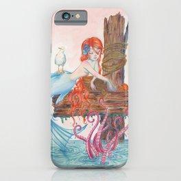 Mermaid on Dock iPhone Case