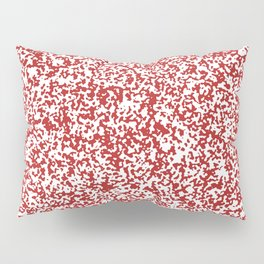 Tiny Spots - White and Firebrick Red Pillow Sham