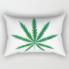 Marijuana. Cannabis leaf  Rectangular Pillow