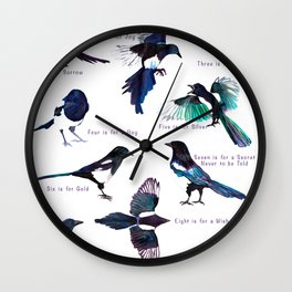 The Magpie Rhyme Wall Clock