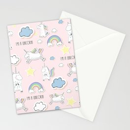 Unicorn - light pink Stationery Cards