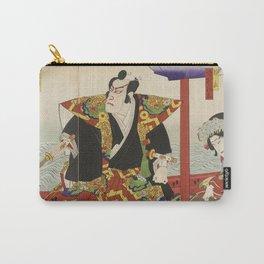Toyohara Kunichika - Samurai In Boat. Carry-All Pouch