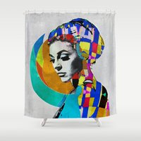 pop Shower Curtains featuring Pop by Steve W Schwartz Art