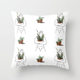 Plant-Daddy (Snake) Throw Pillow