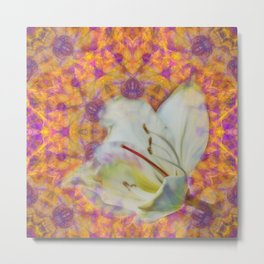 Bauhinia on vibrant kaleidoscope Metal Print