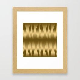 Modern Gold Abstract Zebra Stripes. Framed Art Print