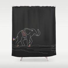 Patriotic Elephant Print Shower Curtain
