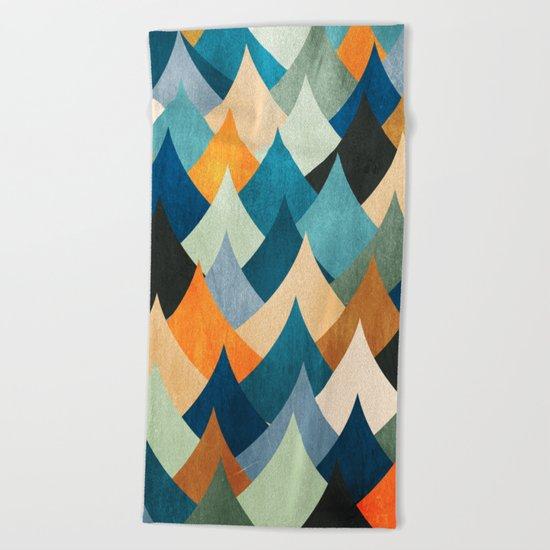 Eccentric Peaks Beach Towel