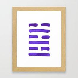 After Completion - I Ching - Hexagram 63 Framed Art Print