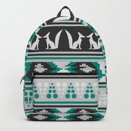 Ethnic pattern with foxes Backpack