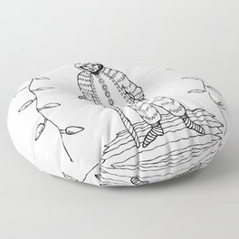 Christmas Alone - Old Man Floor Pillow