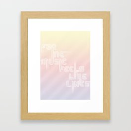 """Type and Music """"ELECTRONIC MUSIC"""" Framed Art Print"""