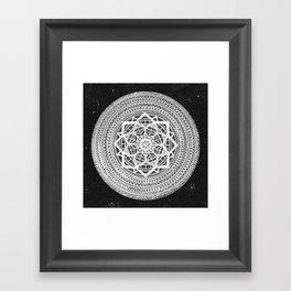 Heliocentric Mandala Framed Art Print