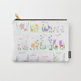 Birthday Month Flowers Carry-All Pouch