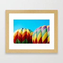 Rainbow Hot Air Balloons Framed Art Print