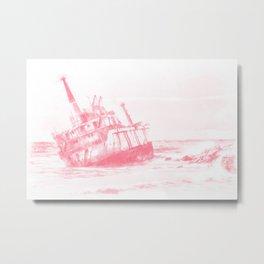 shipwreck aqrepw Metal Print