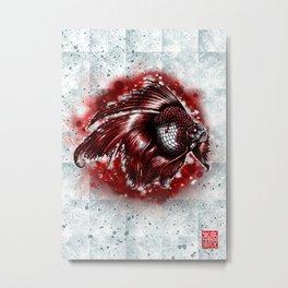 Flagged goldfish Metal Print