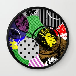 Bits And Pieces V Wall Clock