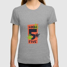 Funny High Five Marijuana T-shirt