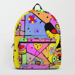 Peace Popart by Nico Bielow Backpack