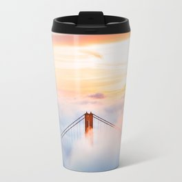 Golden Gate Bridge at Sunrise from Hawk Hill - San Francisco, California Travel Mug