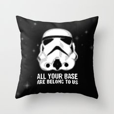 All Your Base Are Belong To Us Throw Pillow